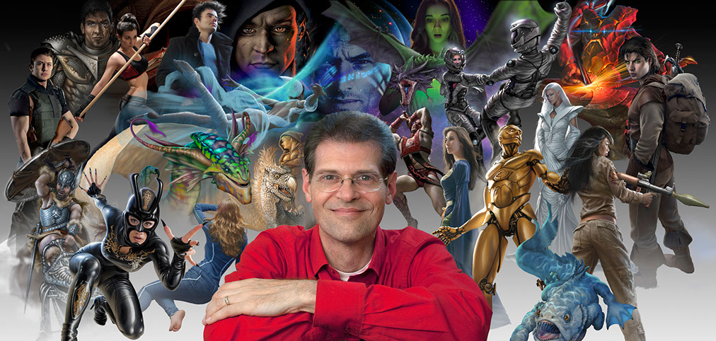 Brad Fraunfelter: master illustrator of fantasy and science fiction book cover artwork, with some of his universe of characters.