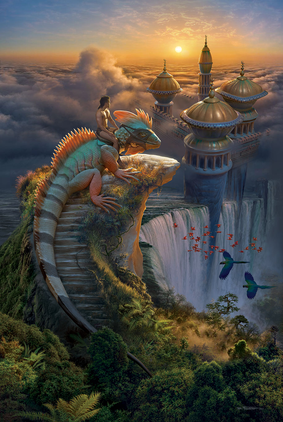 """The Lost City"" fantasy illustration by Brad Fraunfelter."